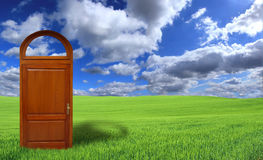dörrar som är nya till världen arkivfoton