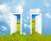 dörrar som är nya till världen royaltyfri illustrationer