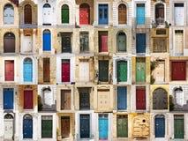 Dörrarna från Malta. Royaltyfri Fotografi