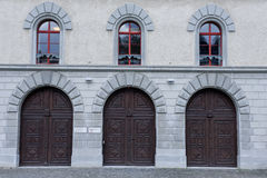 Dörrdetalj på abbotskloster av St Gallen Arkivbilder