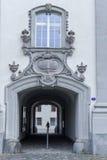 Dörrdetalj på abbotskloster av St Gallen på Schweiz Arkivfoto
