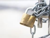 Dörren drar åt låset Fotografering för Bildbyråer