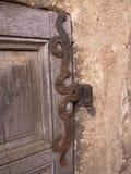 Dörren förser med gångjärn Royaltyfri Fotografi