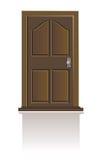 dörren isolerade trä Royaltyfri Fotografi