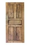 dörren isolerade trä Royaltyfria Bilder