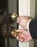 dörren låser upp Arkivfoto