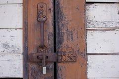 Dörren låstes med tangent Royaltyfri Fotografi
