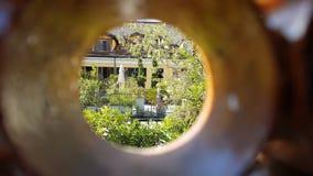 dörrengelska arbeta i trädgården banahemlighet arkivbild