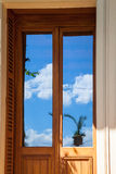 Dörrexponeringsglasreflexion Arkivfoton