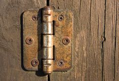dörrgångjärn Arkivbild