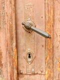 Dörrhandtag för gammal stil Fotografering för Bildbyråer