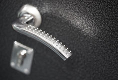Dörrhandtag- och låscloseup Royaltyfri Bild