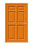 dörrillustrationträ Arkivfoto