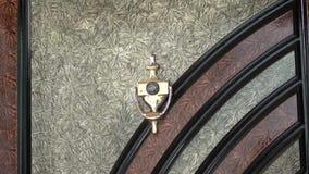 Dörrspion-hål zoom ut stock video