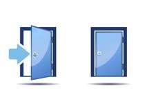 Dörrsymbolen stock illustrationer