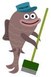 Dörrvaktfisk royaltyfri illustrationer