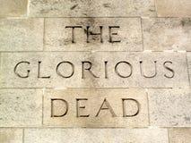 dött härligt för cenotaph Royaltyfri Bild