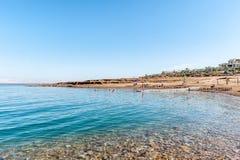 dött hav för kust fotografering för bildbyråer