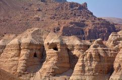 Dött hav Israel för Qumran grottor Royaltyfria Bilder