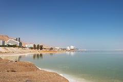 Dött hav nära Ein Bokek, Israel arkivbilder