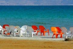 dött salt hav israel Royaltyfria Foton