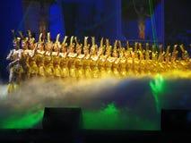 döv kinesisk dans för skådespelarear Arkivbild