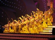 döv kinesisk dans för skådespelarear Royaltyfri Foto