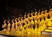 döv kinesisk dans för skådespelarear Arkivfoto