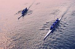 Dúo del Rowing Fotografía de archivo libre de regalías
