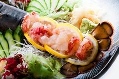 Dúo del Sashimi de la langosta Imágenes de archivo libres de regalías