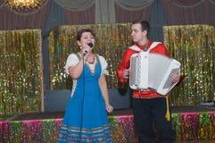 Dúo Irina y Michael Drokovy Foto de archivo libre de regalías