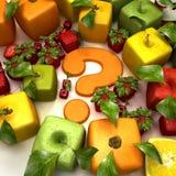 Dúvida da fruta Imagens de Stock