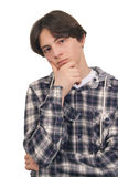 Dúvidas do adolescente Fotografia de Stock