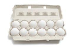 Dúzia ovos Fotografia de Stock