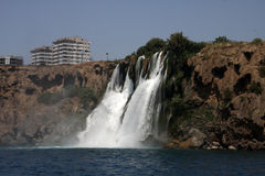 Düden waterfall in Antalya 2. Lower Düden waterfall in Antalya, Lara beach Royalty Free Stock Images