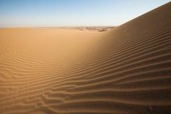 Düne auf der Wüste. Lizenzfreies Stockbild