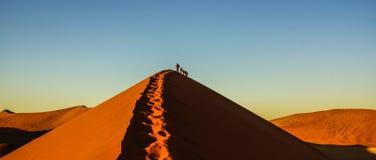 Düne 45 in der namibischen Wüste Stockfotos