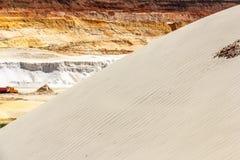 Düne mit Quarzsand Stockfotografie