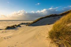 Dünen auf der Nordsee fahren auf die Insel Amrum, Deutschland die Küste entlang Lizenzfreie Stockbilder