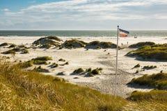 Dünen auf der Nordsee fahren auf die Insel Amrum, Deutschland die Küste entlang Lizenzfreies Stockbild