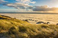 Dünen auf der Nordsee fahren auf die Insel Amrum die Küste entlang Stockbilder