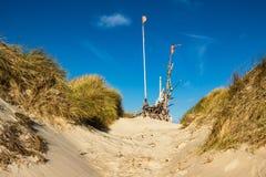 Dünen auf der Nordsee fahren auf die Insel Amrum die Küste entlang Stockbild