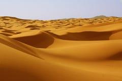 Dünen in der Sahara-Wüste Lizenzfreies Stockfoto