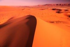 Dünen des Ergs Chebbi, Sahara Deser lizenzfreies stockbild
