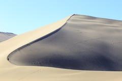 Dünen in Gobi-Wüste in Dunhuang Stockbild