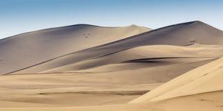 Dünen in Gobi-Wüste in Dunhuang Stockfotografie