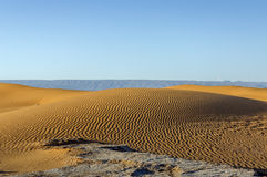 Dünen, Hamada du Draa, Marokko Lizenzfreies Stockbild