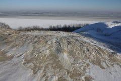 Dünen im Winter am Weihnachten Stockbild