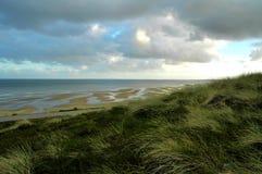 Dünen und tideland Sylt lizenzfreie stockfotos