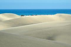 Dünen von gran Canaria Lizenzfreie Stockfotografie